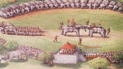 Show Of Fighting Elephants in Aceh